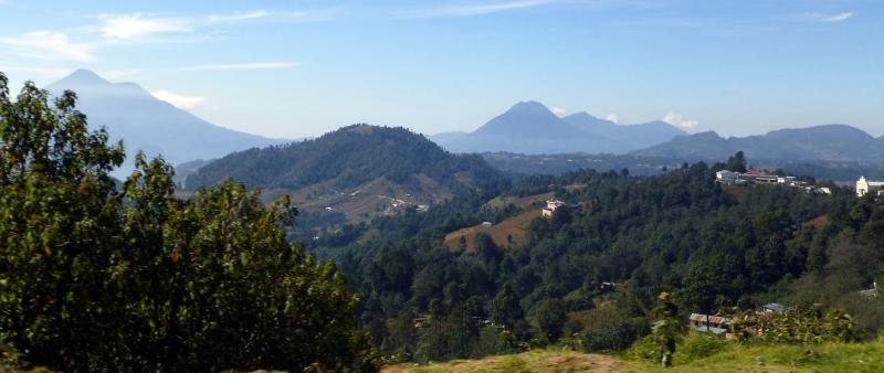 The Guatemalan countryside rolls as far as the eye can see