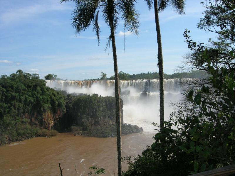 Stunning view of Iguazu Falls from a distance