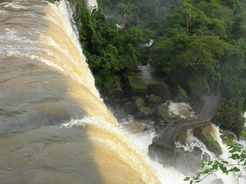 The sights from atop the Iguazu Falls are not for the feint of heart