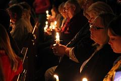 Mourners in West gathered in a vigil over the weekend.