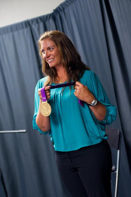 Misty May-Treanor with Olympic Gold