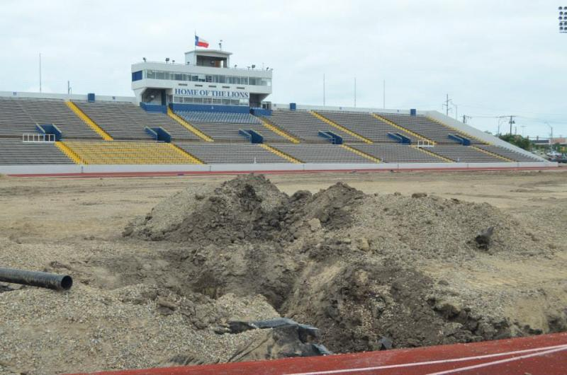 Memorial Stadium under construction
