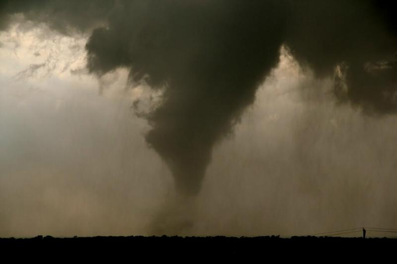 A tornado near Watherford on May 15.