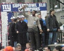 Michael Strahan in the Giants' 2008 Super Bowl Parade