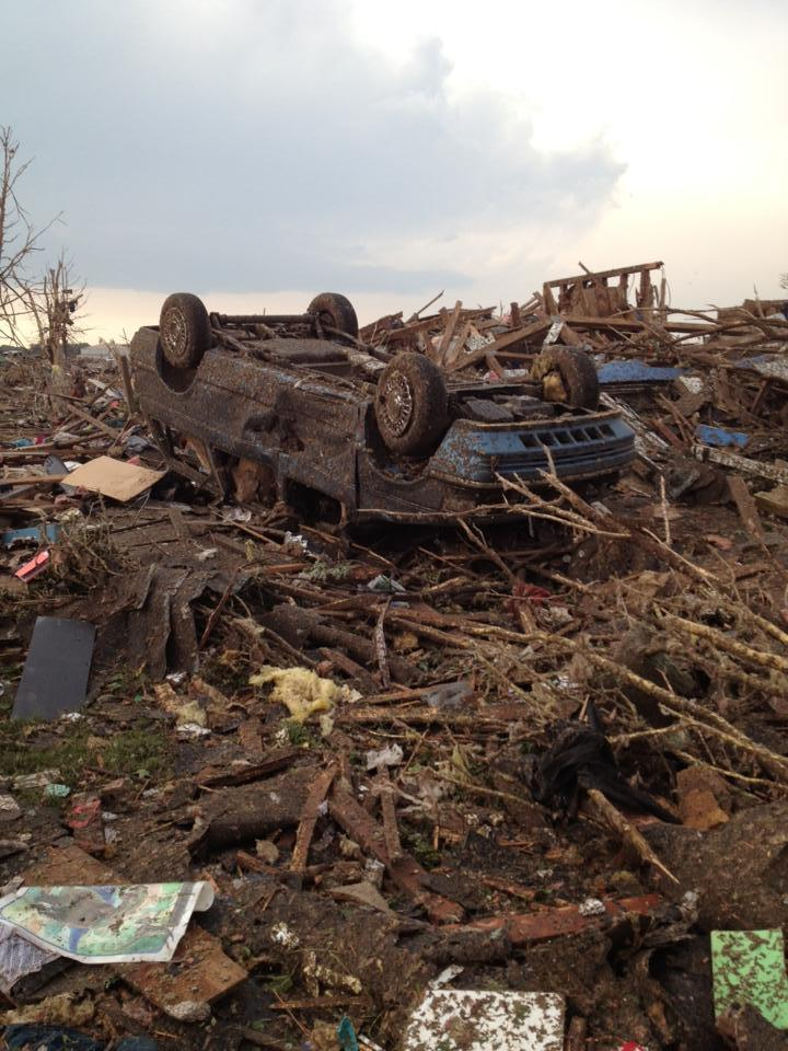 Vehicles were tossed like toys in the EF-5 tornado