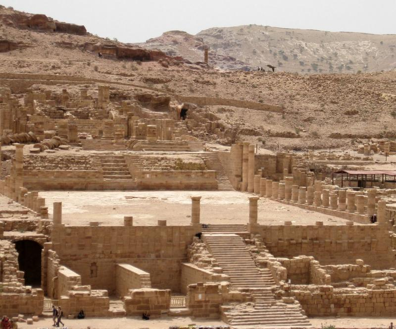 An unearthed Roman Temple at Petra