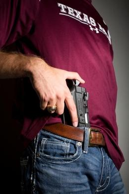 The carrying of concealed handguns by those holding a state license in buildings on university campuses across the state will be legal on Aug. 1.