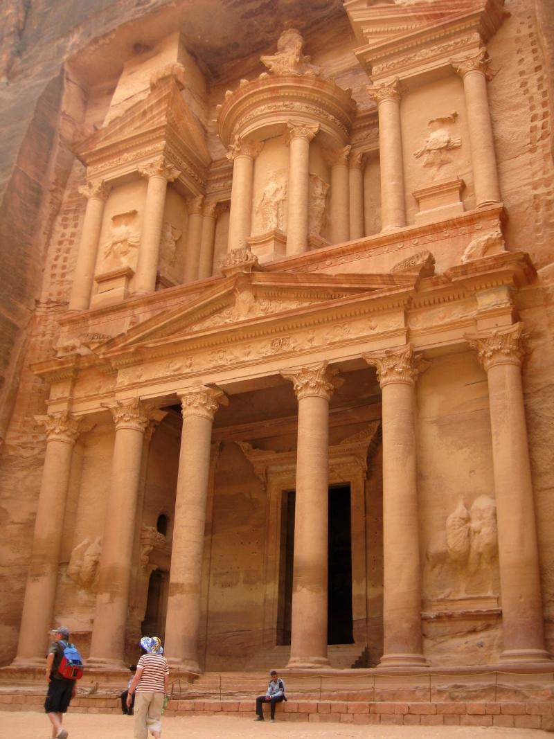 "Al Khazneh, or ""The Treasury,"" popularized in the film ""Indiana Jones and The Last Crusade."""