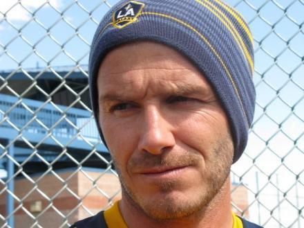 David Beckham after a MLS game