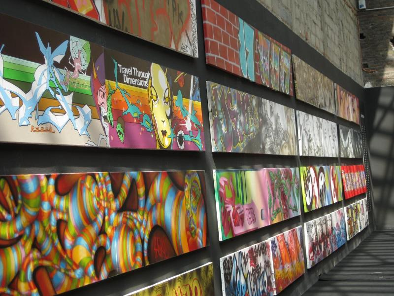 Grafitti art on display at the TAG exhibit in Paris, France.