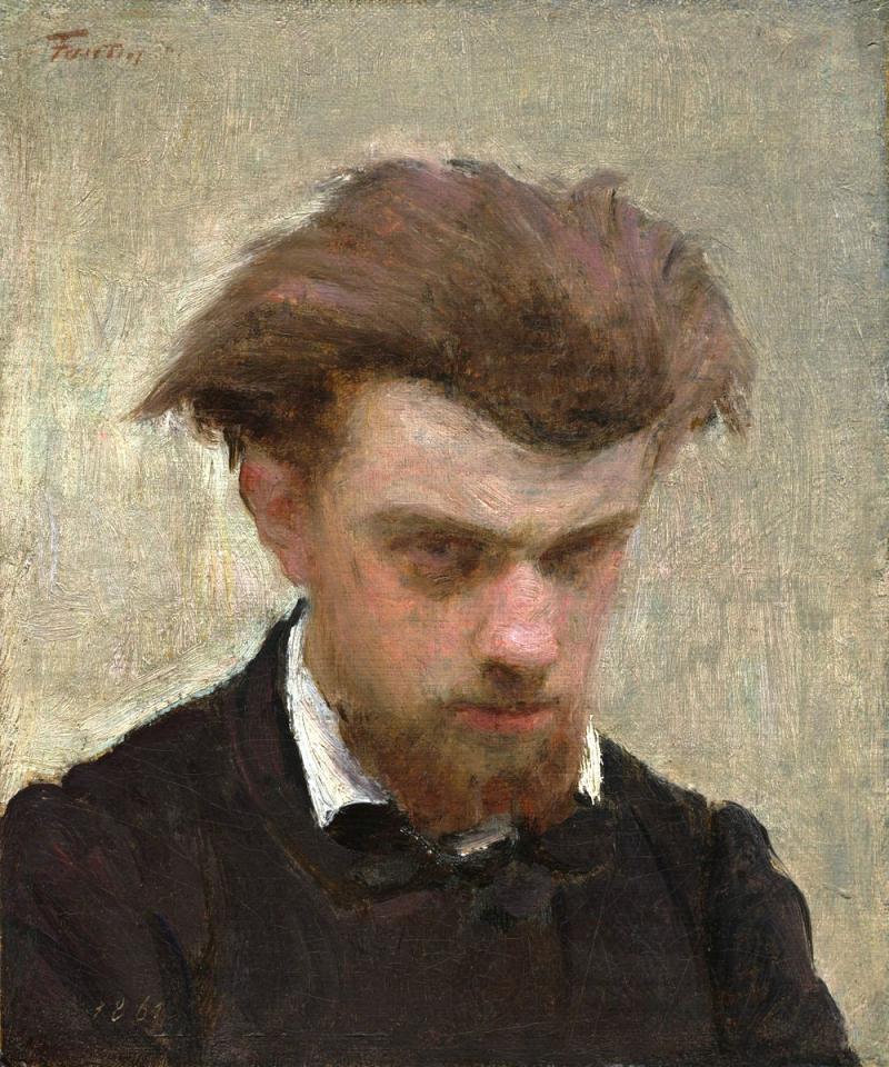 Self Portrait, Henri Fantin-Latour (1861)