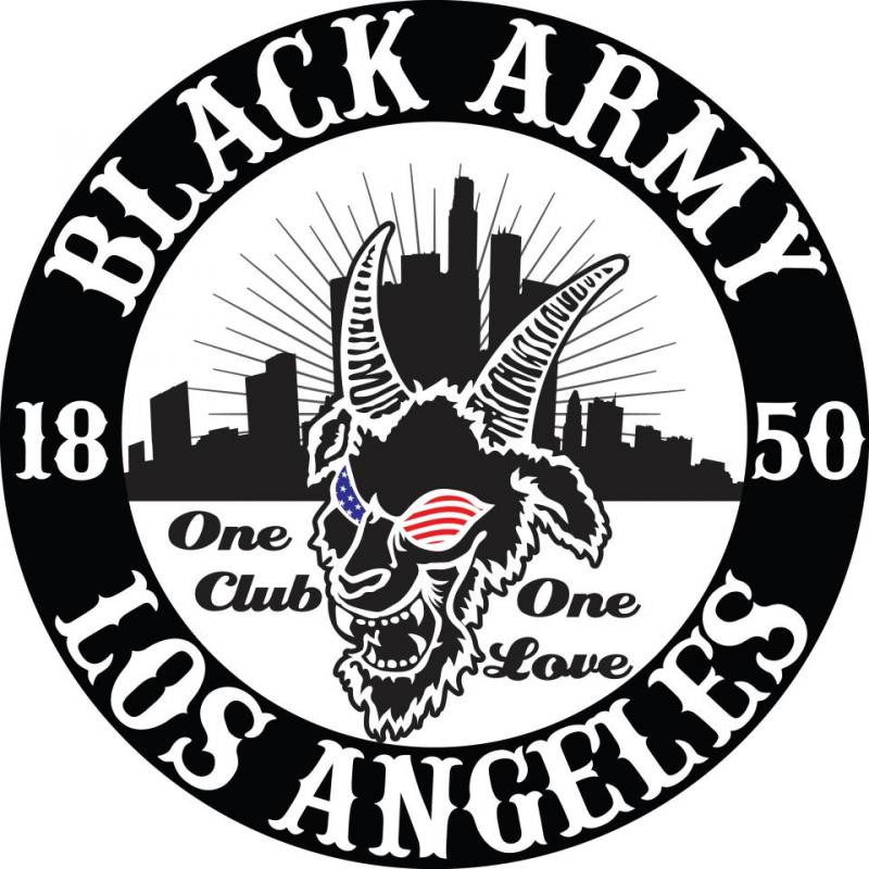 Black Army's logo emphasizes the Los Angeles identity of the team and its fans.