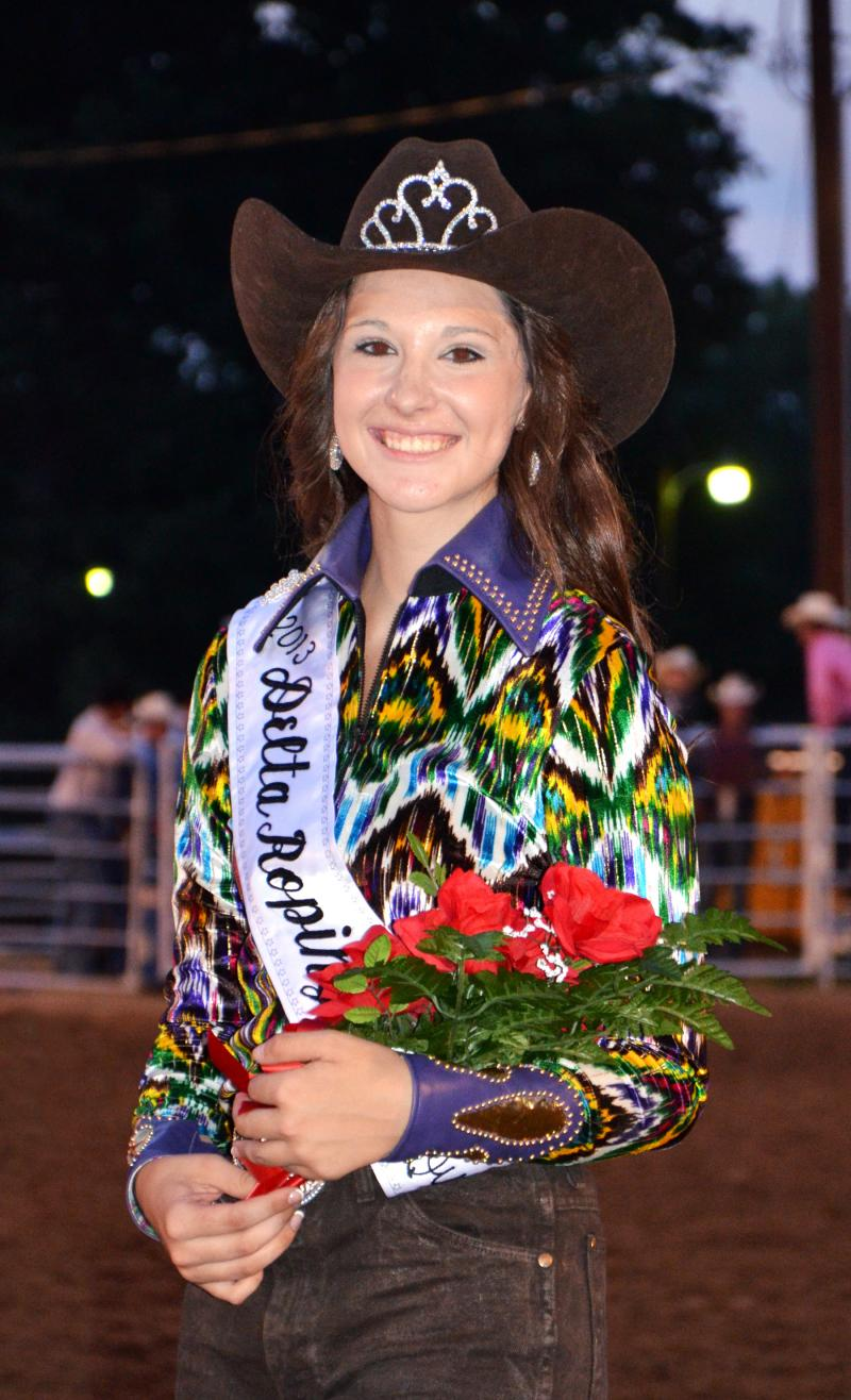 Malee White, queen of the 2013 Cooper Rodeo.