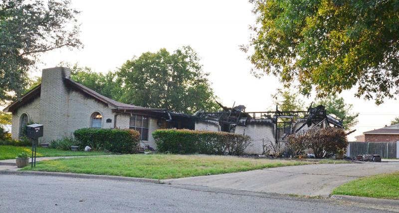 1403 Circle Dr. in Cooper, where a fire burned on July 4.