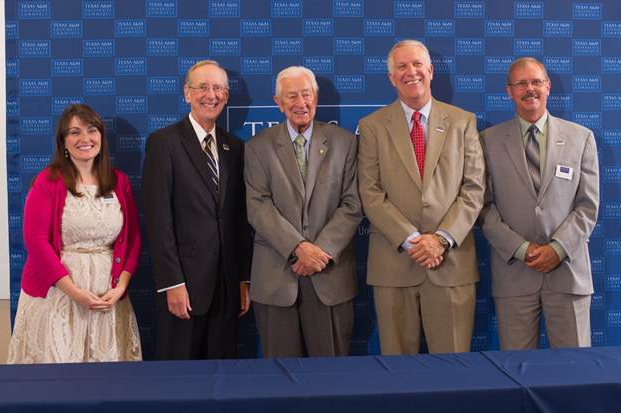 Left to right: Andrea Weddle, President Dan R. Jones, Congressman Ralph Hall, Randy VanDeven, Greg Mitchell