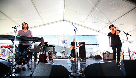 Tegan and Sara play the 2012 Newport Folk Festival
