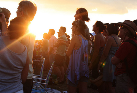 Festivalgoers at Newport Folk in 2012