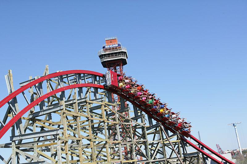 The Texas Giant, after reopening in April, 2011