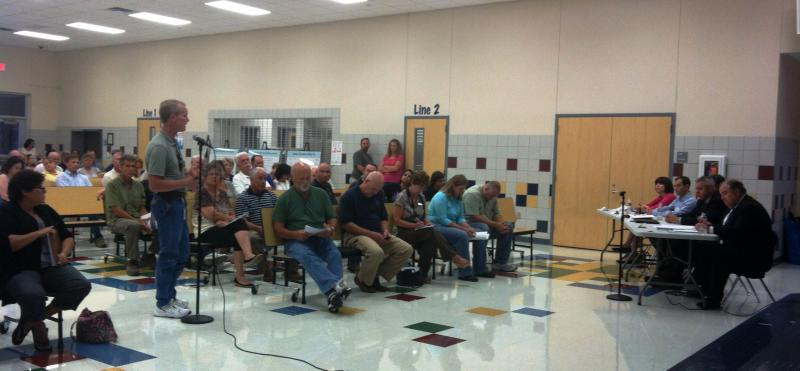 Hunt County Precinct 2 Commissioner Jay Atkins was among those who addressed the meeting.