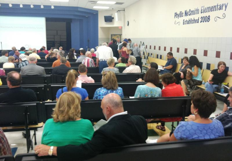 About 200 people attended the July 25 meeting in Lavon.