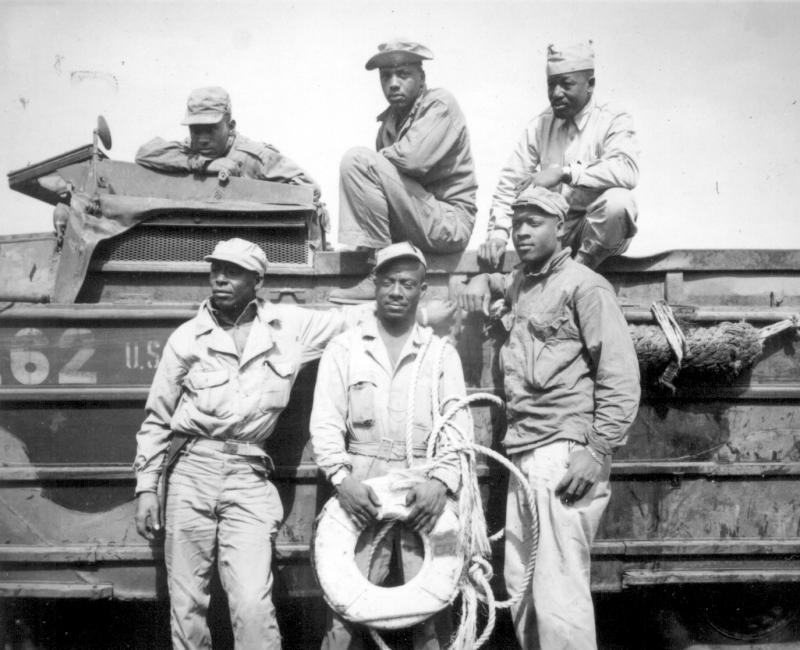 About one in 20 World War II servicemen was African-American.