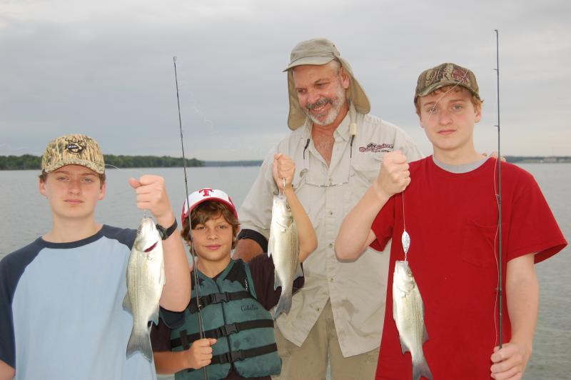 Guide Bob Holmes a Luke's grandsons