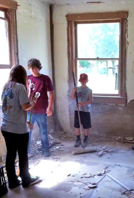 Cooper Youth recently helped clean up and repair local houses as part of the Delta County Missions Week.