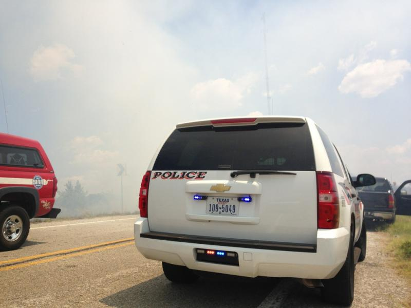 Multple emergency vehicles responded to the blaze near TX Hwy 224