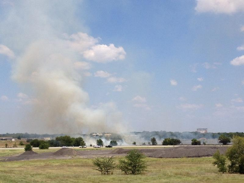 Large grass fire reported near Commerce