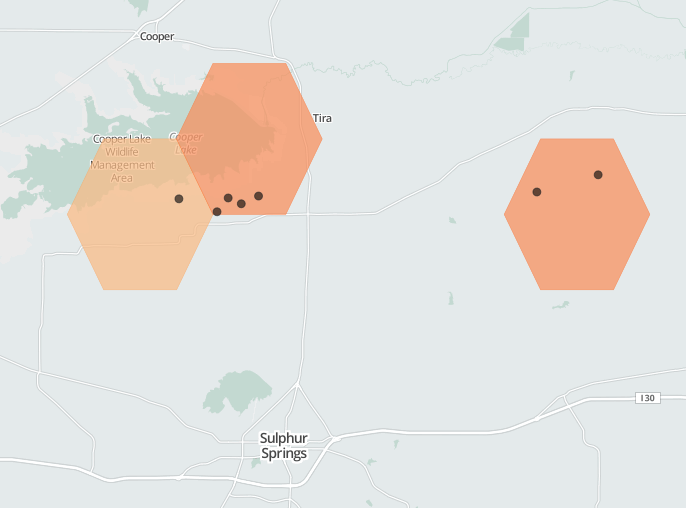 There are a few disposal wells near Cooper Lake.