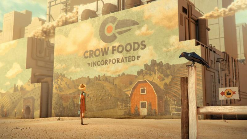 "Chipotle's second video aimed at ""Big Ag"" depicts a scarecrow in a dystopian work environment."