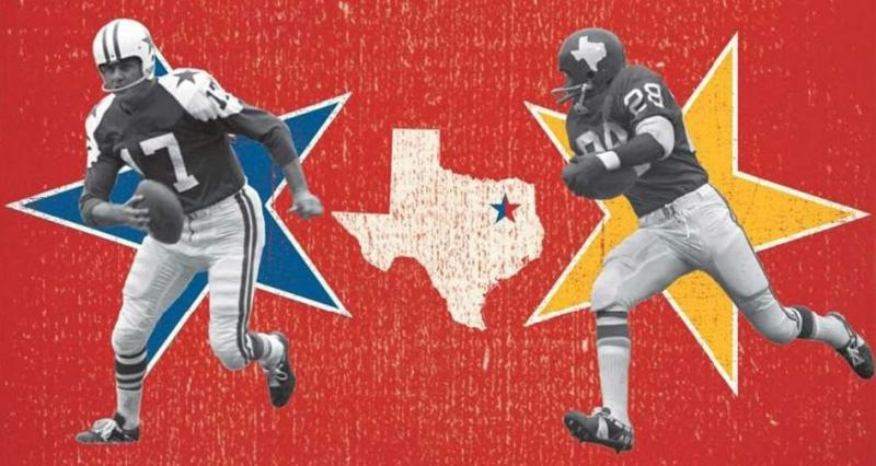 The NFL's Dallas Cowboys and the AFL's Dallas Texans were once rivals for the city's football fans in the 1960s. The Texans moved to Kansas City after an AFL Championship win. KC hosts the Cowboys at Arrowhead Stadium, noon Sept. 15.