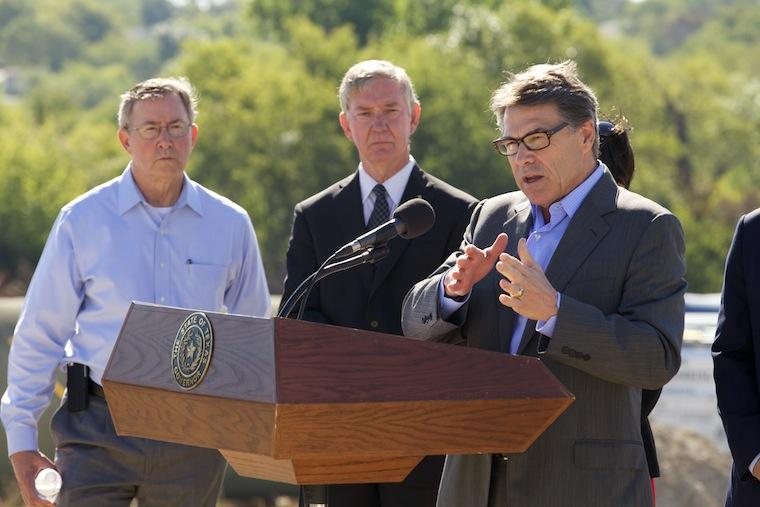 Rick Perry speaks in Wylie on Oct. 10.