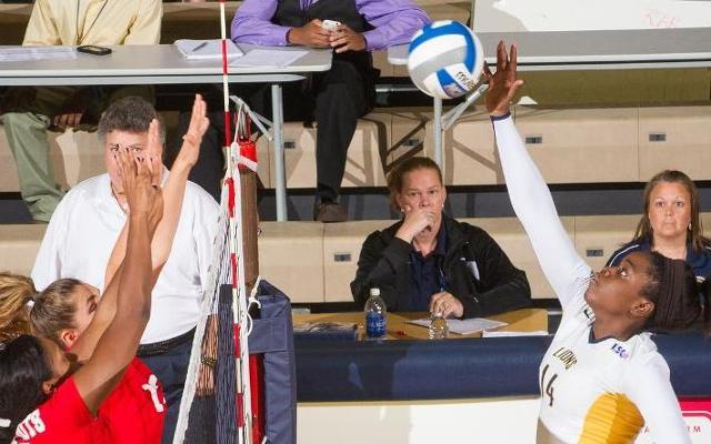 Ciara Holmes set a new career high in the Lions, 3-0, sweep of Ouachita Baptist.