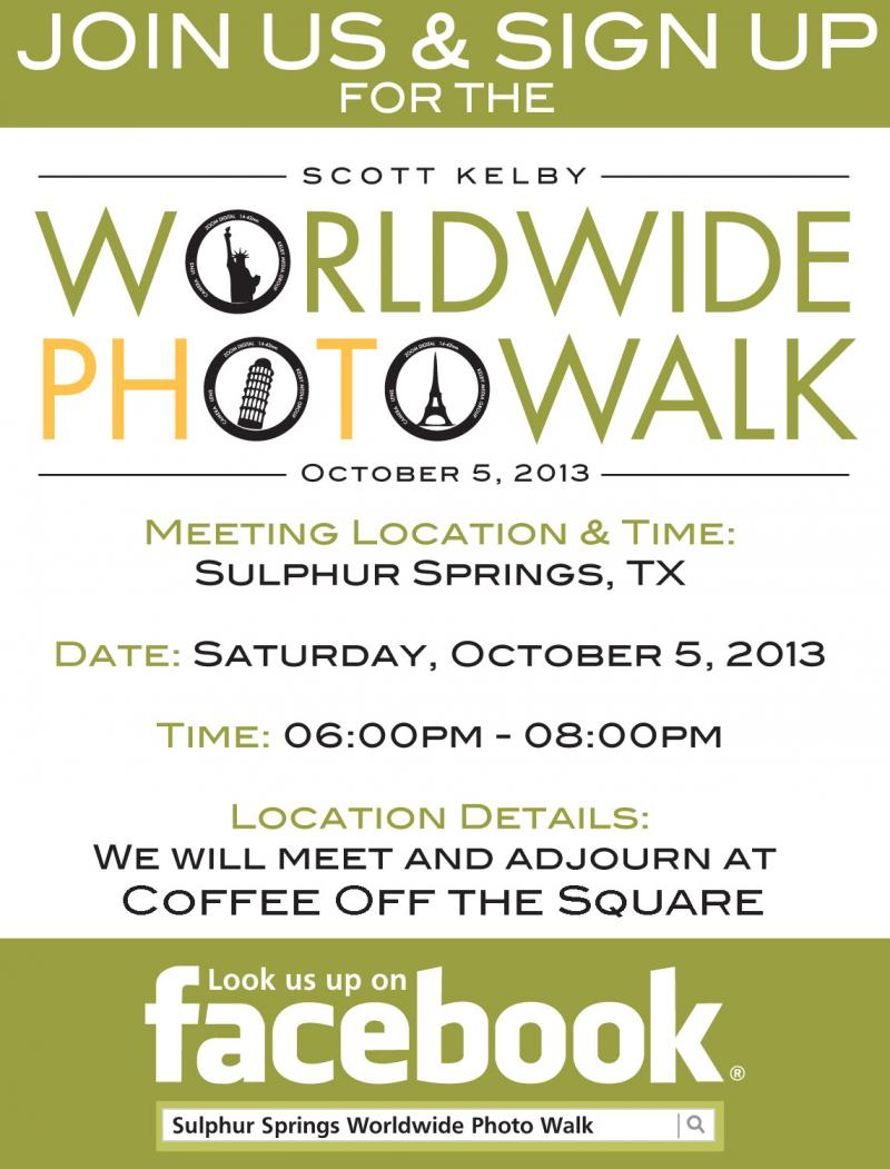 Sulphur Springs Photo Walk promotional flyer
