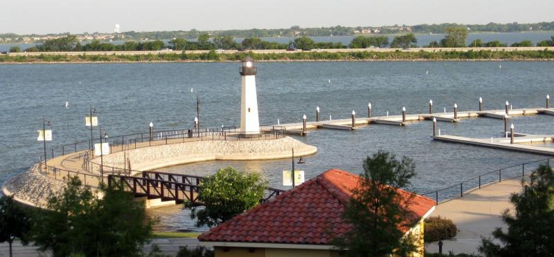 Rockwall Harbor, as seen from the Rockwall Hilton.