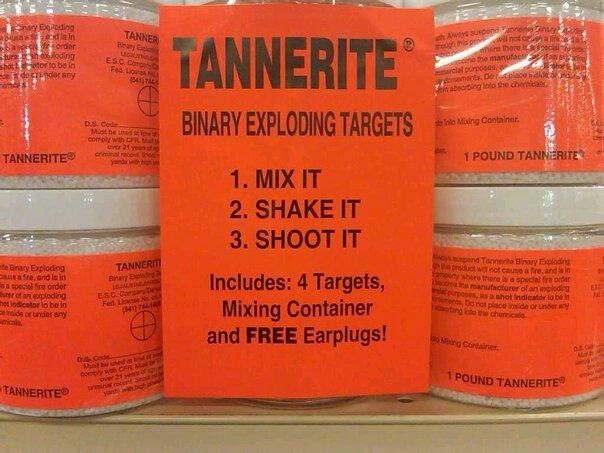 "Tannerite is an explosive that creates a loud ""boom"" that can be heard up to 30 miles away"
