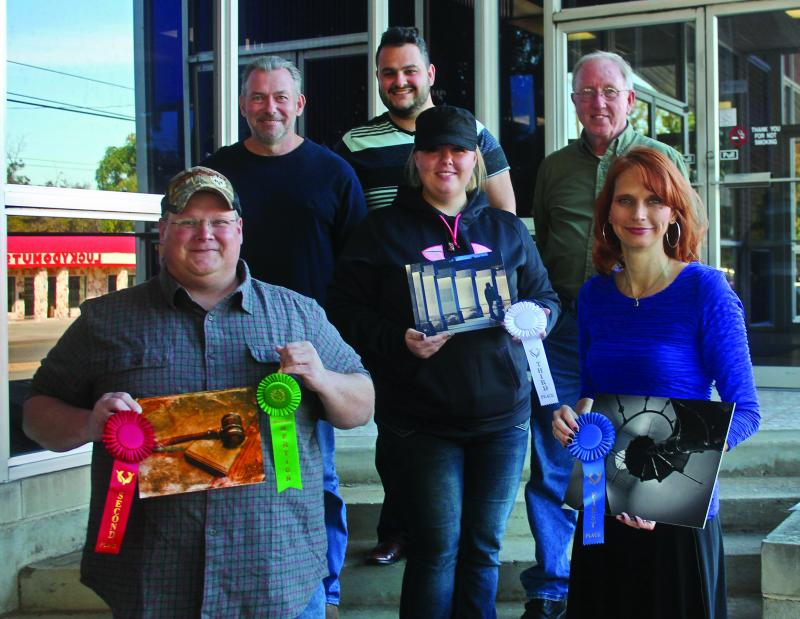 This year's winners and sponsors. Front row: Andy Pendleton, Kimberly Vaughn, Cindy Roller. Back row: John Reed, Luis Noble and Perry Altenbaumer.