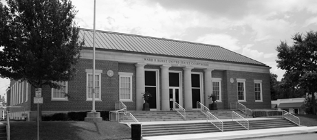 The federal courthouse in Lufkin, where a Douglass farmer has filed against the U.S. Army Corps of Engineers.