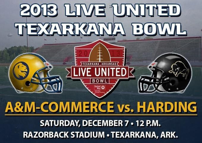 A&M-Commerce will face Harding on Dec. 7 at Razorback Stadium in Texarkana, Ark.