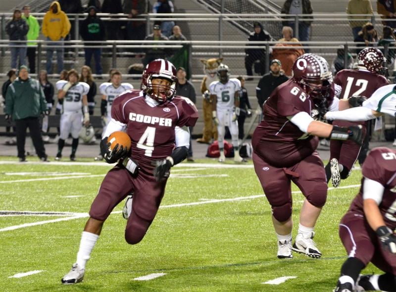 Cooper's Jeremy Mims on the move in the backfield.