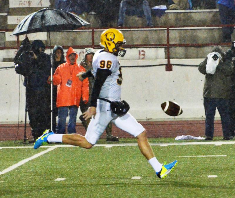 Cameron Frosch averaged 35.9 yards on eight punts.