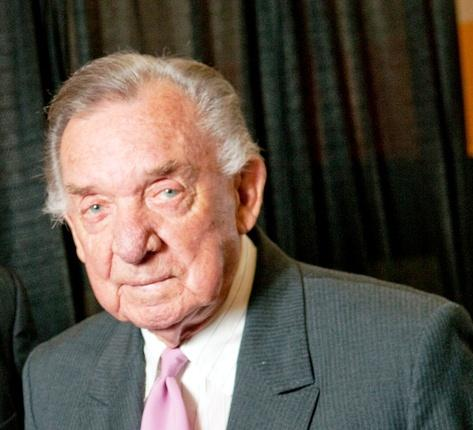 Ray Price, shown here in a 2009 visit to Texas A&M University-Commerce, has died.