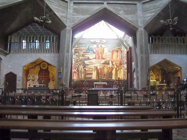 Interior of The Church of the Annunciation in Nazareth