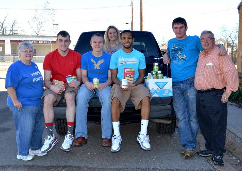 The North Hopkins Independent School District Beta Club recently donated food to the Hope House in Cooper.