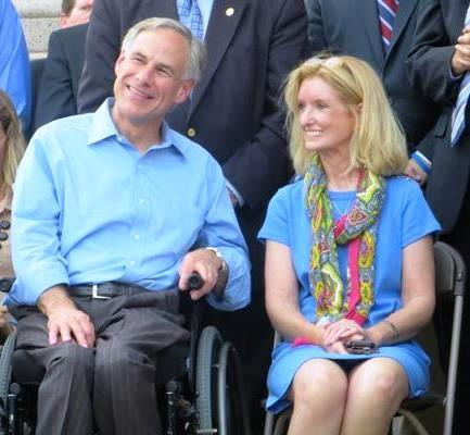 State Rep. Jodie Laubenberg (pictured with Greg Abbott), whose district includes southern Collin County, is the only woman representing a portion of the KETR service area in the Texas Legislature.