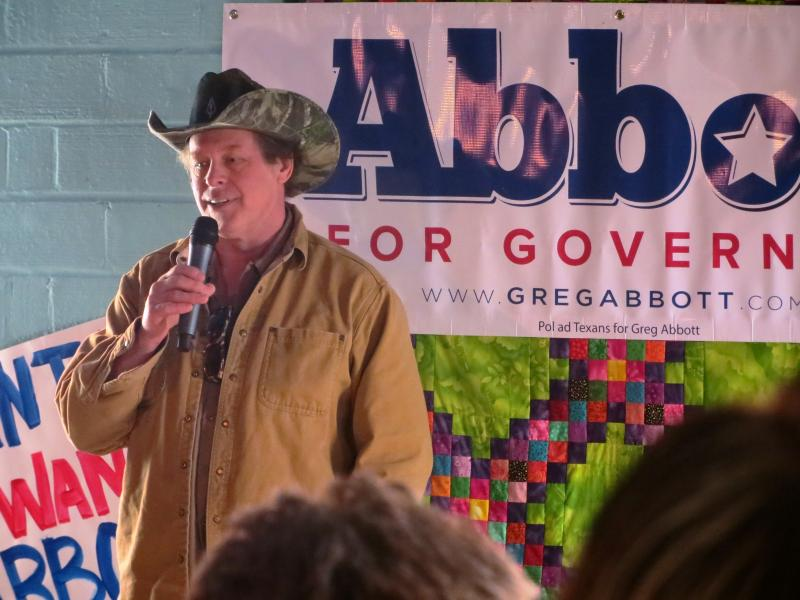 Ted Nugent appeared in Denton on Feb. 18.