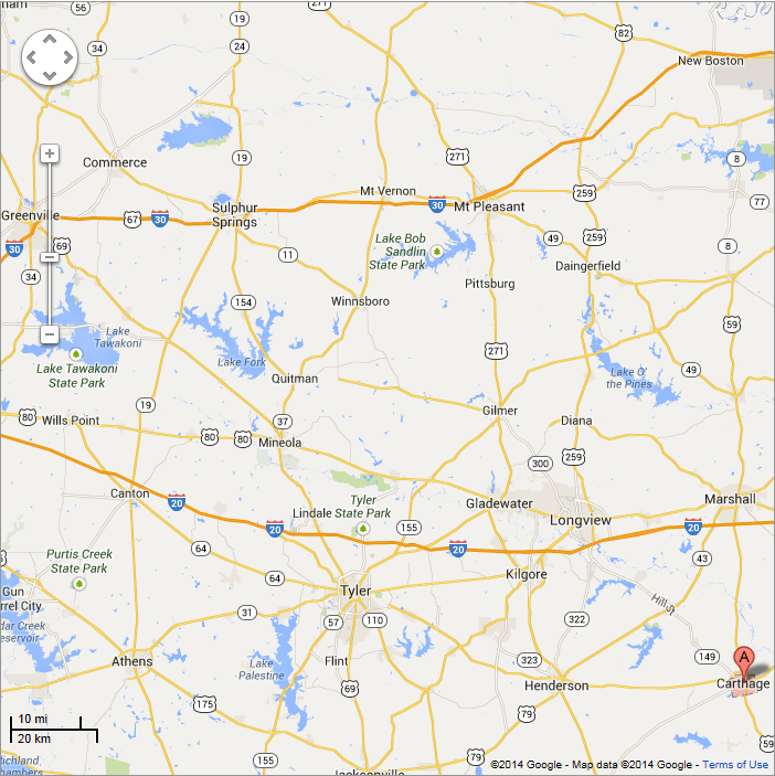The fatal shooting of Marjorie Nugent took place in 1996 about 139 miles away in Carthage, TX.