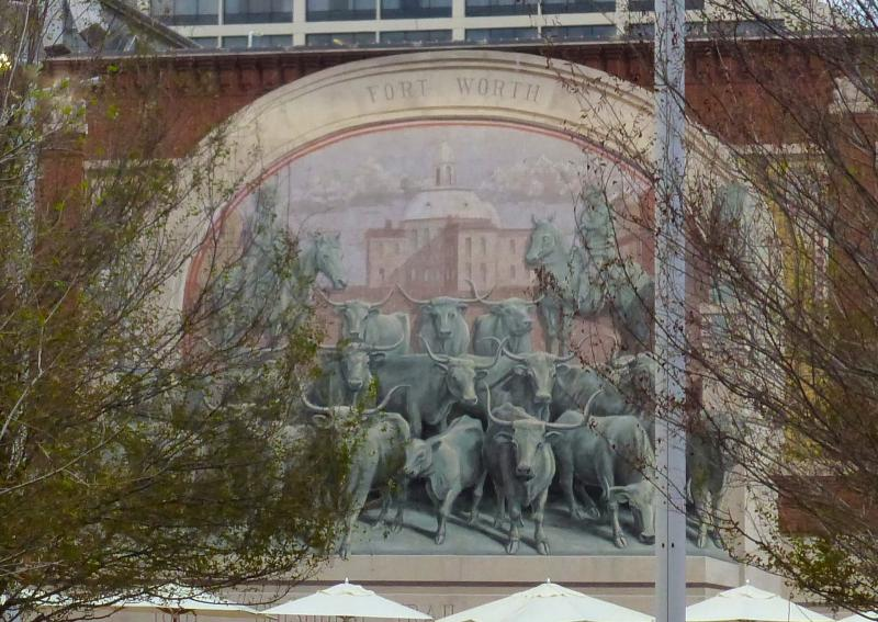 Mural painted at Ft. Worth's renovated Sundance Square.