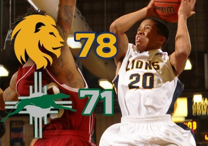 De'Andre Carson and the Lions picked up an important conference victory over Eastern N.M. at The Field House in Commerce on Feb. 19.
